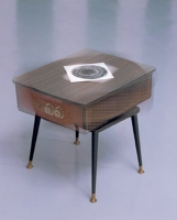 Rotating table heater, vinyl record